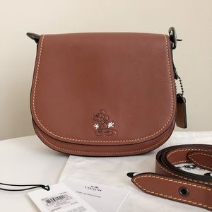 Coach X Disney Mickey Saddle Bag 23